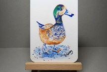birds in art / Paintings of birds