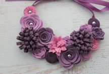 wreath with felt