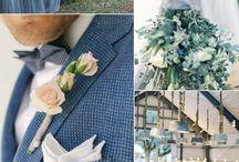 Pantone Blue Riverside trend fiori autunno-inverno 2016 / Composizioni floreali con colori tendenza 2016 Pantone autunno-inverno Blue Riverside