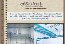 A leading electrical cable tray manufacturers / Brilltech Engineers Pvt. Ltd the name is enough to define our reputation in the market. Being a leading electrical cable tray manufacturers, suppliers and exporters of India we never give you a chance of complaining. Electrical cable tray is specially designed to handle heavy load and also protect your wiring system to get damaged and from the fire as well.