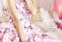 Pink dress, rose dress