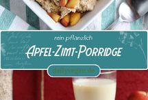 Frühstück - lecker, vegan / Tolle, vegane Frühstücksideen und Rezepte von dailyvegan.de Pfannkuchen, prridge, Brotaufstriche, Breakfastburger, Rührtofu und Co.