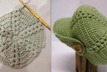 boinas de crochet