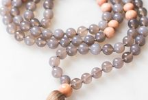 Grounding Mala / Mala bead necklaces for meditation and crystal healing | Meditation for beginners | crystals and stones | inspired by: strength and beauty of wildflowers