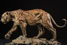 Indian Wildlife Sculpture / Bronze limited edition sculptures made by Hamish Mackie
