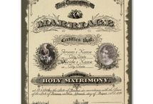 vintage marriage certificates