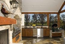 Outdoor Patio Designs with Smokers / A collection of outdoor kitchens with smokers.