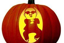 Famous People Pumpkin Carving Patterns / Pumpkin Carving Stencils for popular actors, musicians, politicians etc.