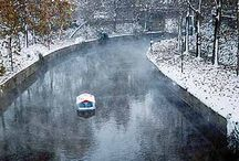 Greek winter. / Greece during winter time.