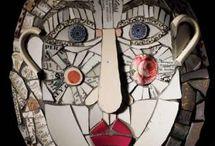 Mosaic sculptures / A collection of modern mosaic sculptures