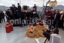 Κτηνοτρόφοι έριξαν γάλα στην εθνική οδό Λάρισας-Κοζάνης