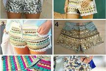 shorts bordados