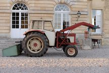 A Quintessential French Tractor / The tractors on the grounds of the Chateau de Courtomer are reflective of European tractor design and are hard at work on this 300 acre piece of property.