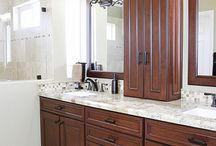 45 - yorba linda - bathroom remodel / Dual Sink Bathroom Remodel with Custom Cabinets by APlus Interior Design & Remodeling