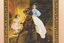Schema punto croce dama a cavallo