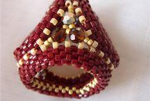 beaded scarf rings