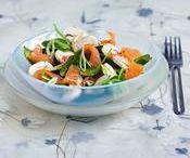 salade d'epinards saumon