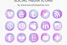 WAKER COLOUR FOR SOCIAL MEDIA ICONS