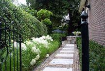 Tuin bij jaren 30 huis