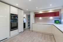 Modern Open Plan Kitchen / Wanting to bring their kitchen into the 21st century, a Barrowford couple opted for the very best German engineered units as well as all the very latest hi-tech appliances from Neff.