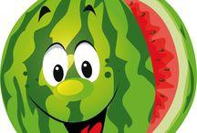 owoce i warzywa z oczkami