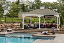 Wood & Vinyl Pavilions / Pavilions offer a shaded area perfect for poolside setting or patios.  / by Best in Backyards