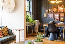 Eclectic Interiors / Bits and pieces from old and new, clean and elaborate, modern and classic