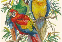 Zwierzęta - haft krzyżykowy