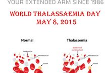 8 May Thalassaemia Day / The World Thalassaemia Day is celebrated on 8th May every year . Thalassaemia is a genetic disorder affecting blood cells; i.e., it is passed from parent to child and is the most common inherited blood disorder in the world.  This condition is caused by changes to the genes that control the production of hemoglobin. Hemoglobin is a protein in red blood cells that carries oxygen around the body – changes affecting hemoglobin result in severe anemia.