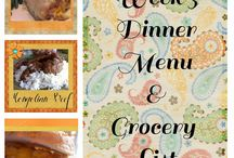 Menus and Grocery Lists