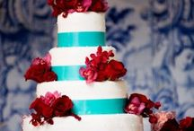 Red and Tiffany Blue Decor