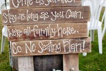 Rustic Wedding Signage / Totally in love with these rustic wedding signage! Would you use one of these in your wedding?