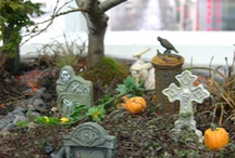 Halloween Gardens / The decorations shouldn't stop at the house! Inspirational ideas of how to decorate gardens at Halloween / by Lights4fun