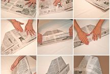 Newspaper crafts