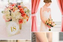 wedding peach and gold