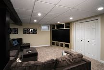 Basement Bar & Media Room | Aurora / A basement design and remodel in Aurora by DESIGNfirst.