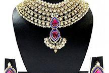 Latest Bollywood Designer Bridal Necklace Jewelry Set
