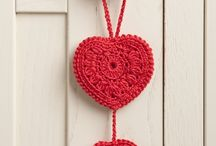 Crotchet hearts