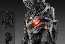 concept art _ s-f robots