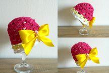 Háčkované čepičky / Crochet hat especially for babies :)