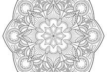 Mandalas and coloring pages
