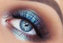 Blue eyes make up