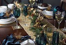montagem de uma mesa  para o natal.
