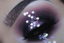 Night Sky / From midnight blue smoky eyes to galaxy inspired lip art, all with a little starry sparkle