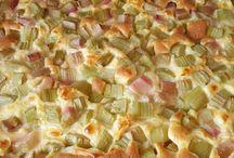 Rhabarber Kuchen v Blech