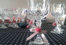 décoration verre à pied pour noël