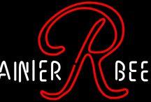Rainier Neon Beer Signs