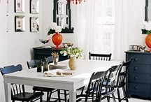Black, white and red decor