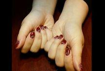 My older works (beginner) / Handpainted nail art