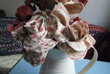 my fabric flowers...